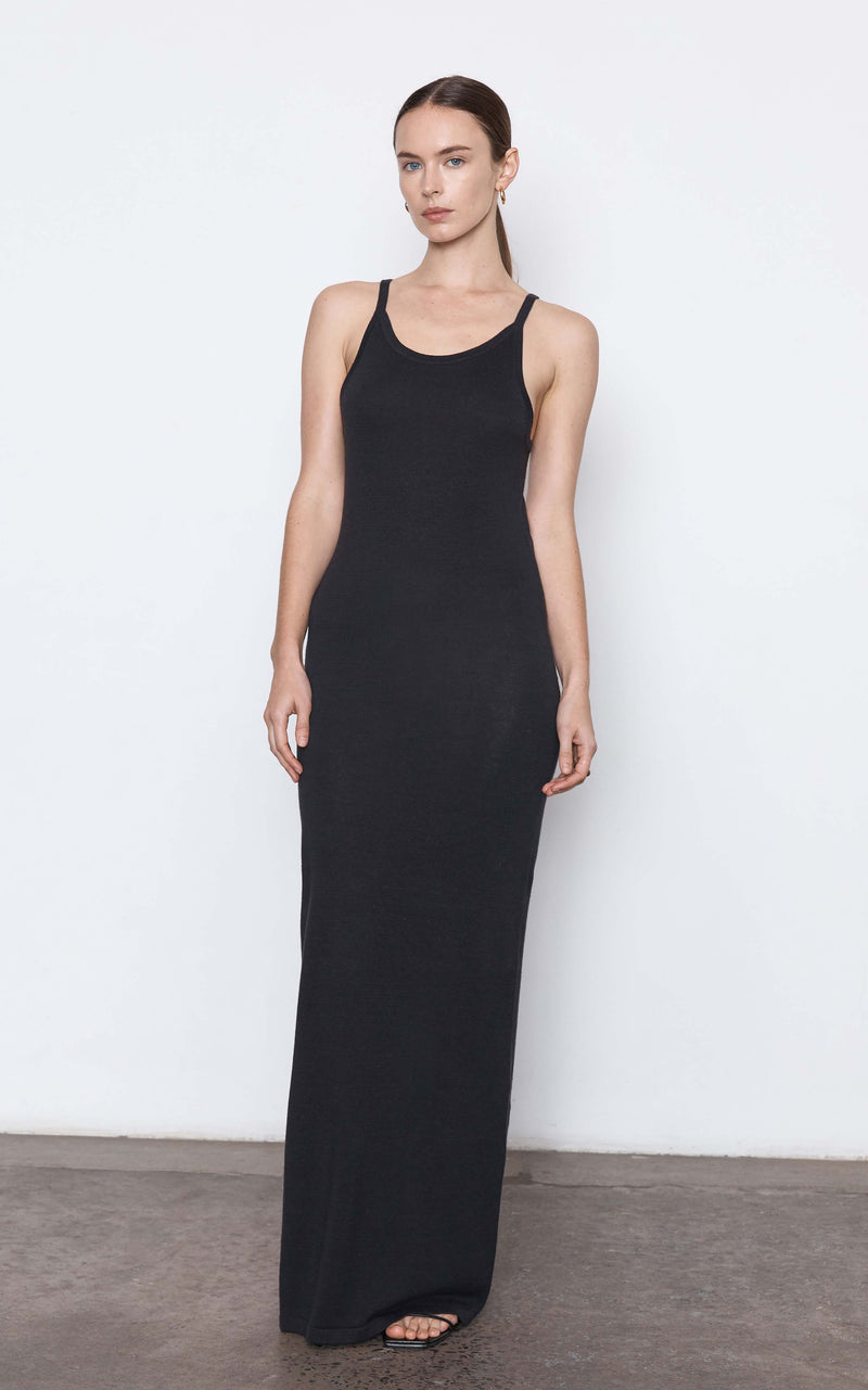 Iman Hemp Tank Dress - Black
