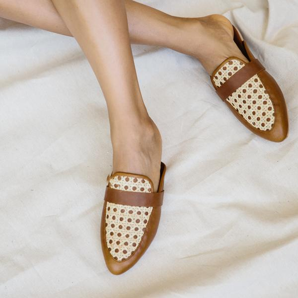 Siena Rattan Loafers