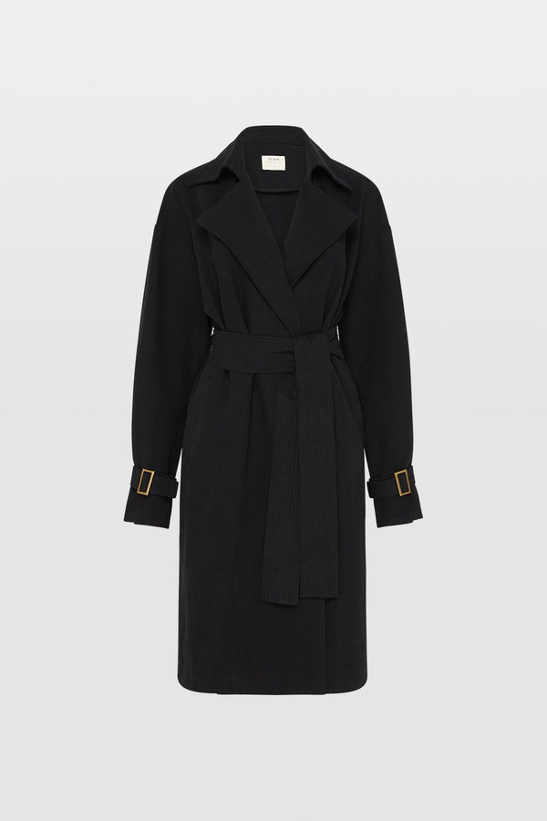 Sumi Trench Coat - Black