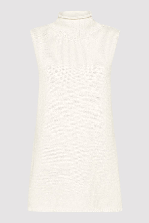Toyo Sleevless Knit - White