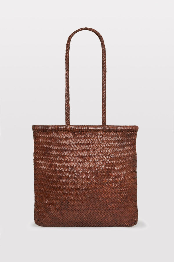 Bagu Woven Tote - Antique Tan