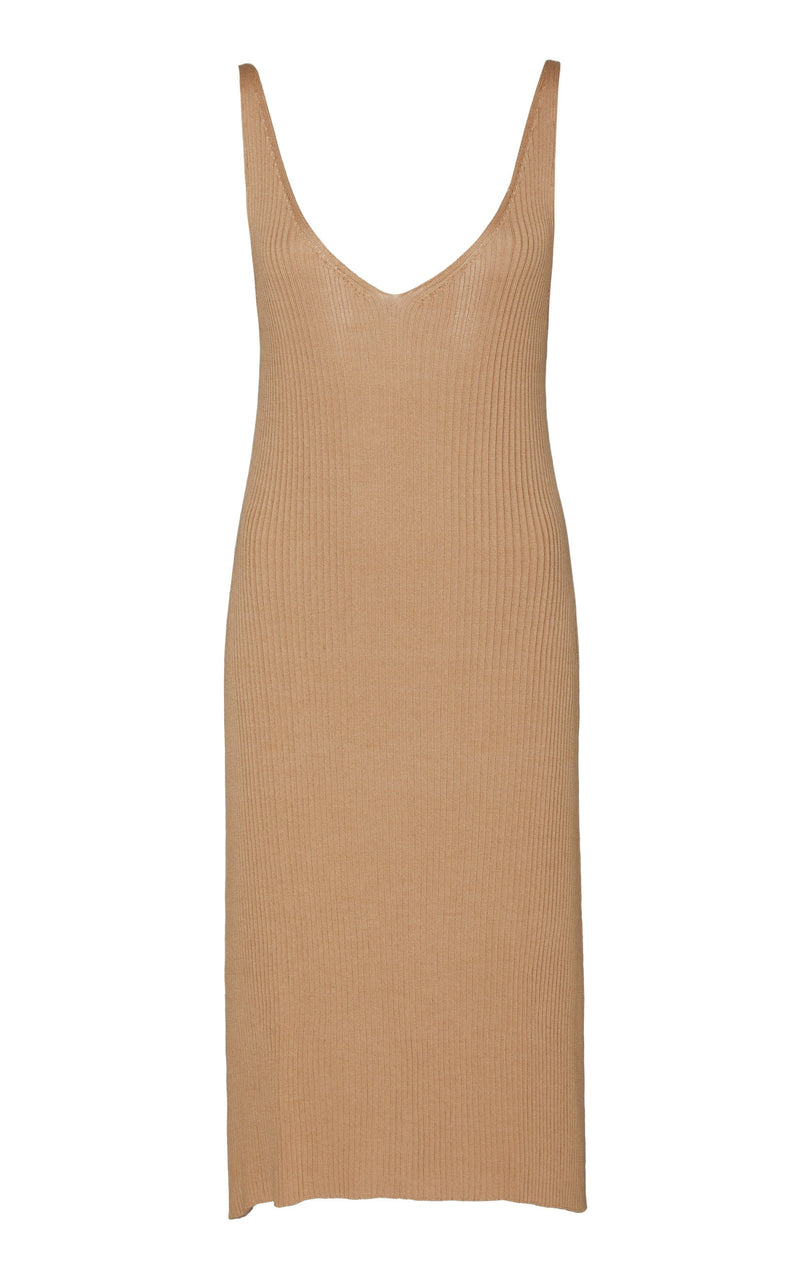 Loic Knit Slip Dress - Honey