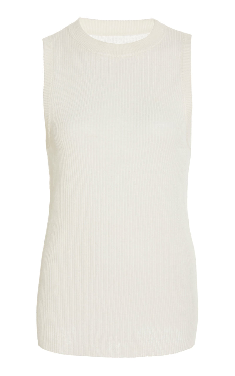 Milo Knit Singlet - Off White