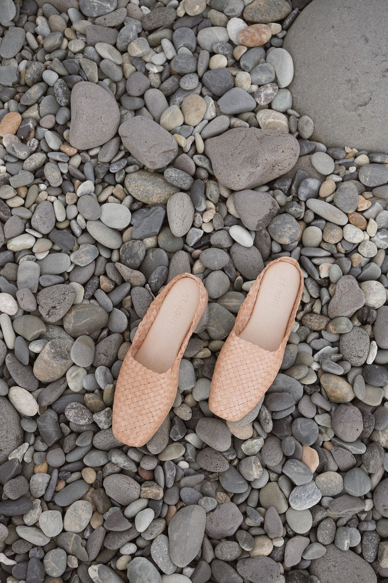 Agnese Woven Flat - Nude