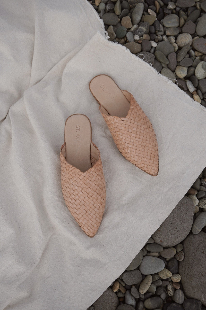 Caio Woven Flat - Nude