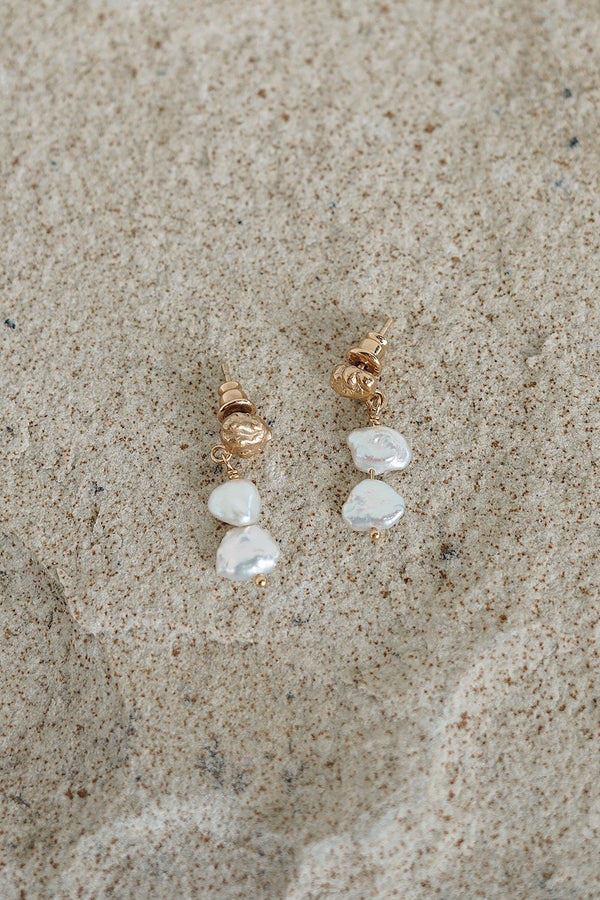 Meteor Pearl Mini Drop Earrings - By Holly Ryan