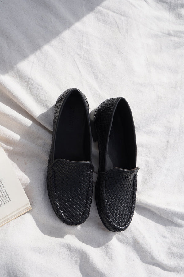Lordes Woven Mocassin - Black