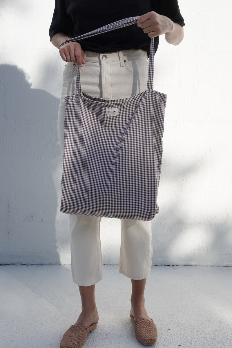 Picnic Tote - Brown Gingham