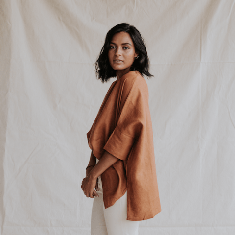 ST. AGNI Boxy Top - Clay