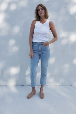 Classic Slim Crop Denim - Light Indigo