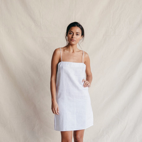 ST. AGNI Carlea Summer Dress - White