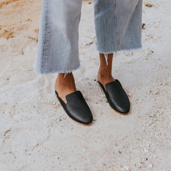 ST. AGNI HUGO Loafer - Black Leather