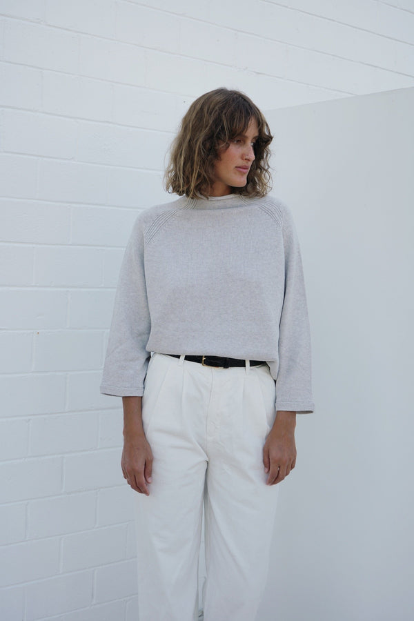 Vino Cashmere Jumper - Soft Grey