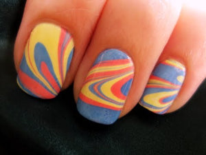 Beauty in motion: Nail Marbling