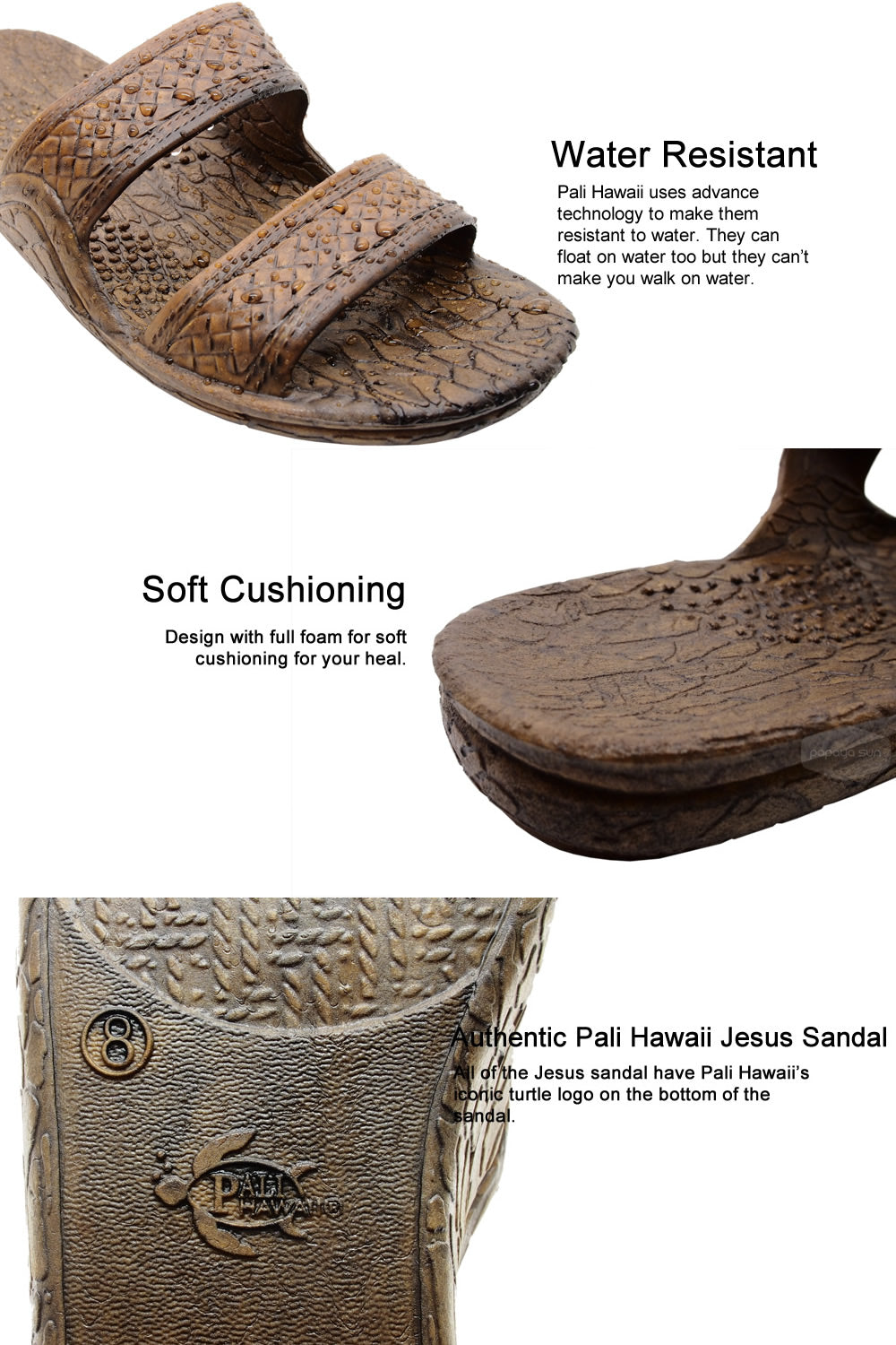 jesus sandal features