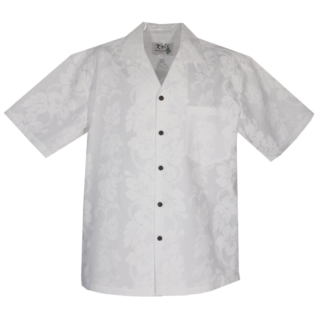 Hibiscus White Wedding Hawaiian Shirt - PapayaSun