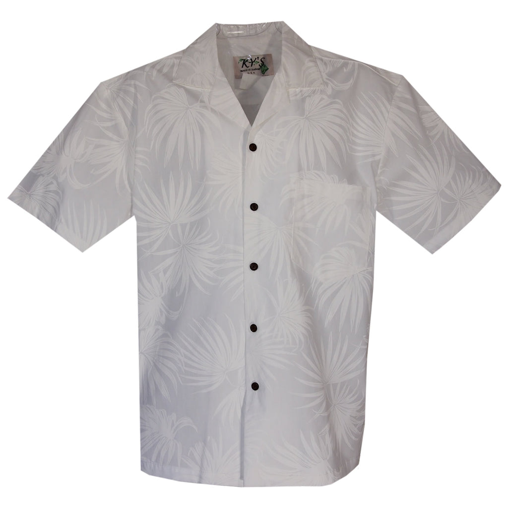 3927ee2d Palm White Wedding Hawaiian Shirt - PapayaSun ...