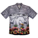 Sea World Grey Border Hawaiian Shirt - PapayaSun
