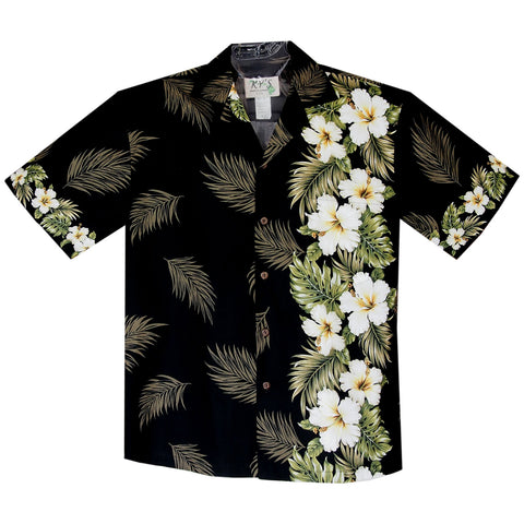 Diamod Head Yellow Border Hawaiian Shirt