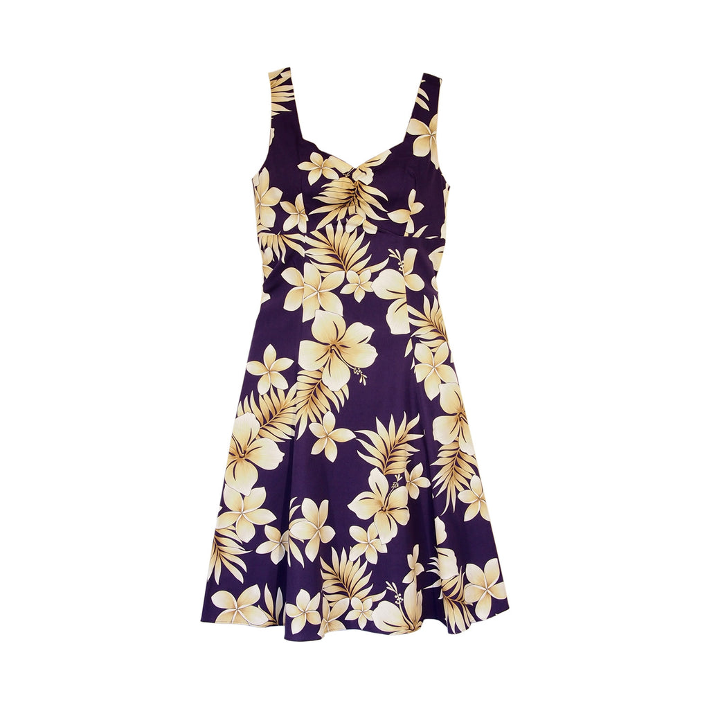 Beachcomber Purple Hawaiian Sundress - PapayaSun