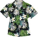 Amazon Black Hawaiian Women's Cotton Blouse - PapayaSun