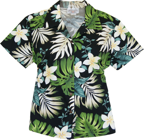 Blueberry Navy Hawaiian Women's Sleeveless Shirt