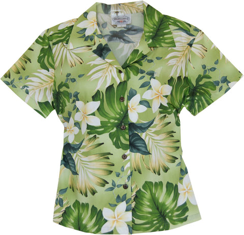 Delight Blue Hawaiian Women's Cotton Blouse