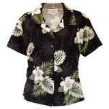 Blackberry Hawaiian Women's Cotton Blouse - PapayaSun