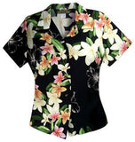 Pebble Black Hawaiian Women's Peplum Blouse - PapayaSun