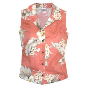 Petal Peach Hawaiian Women's Sleeveless Shirt - PapayaSun