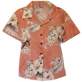 Petal Pink Hawaiian Women's Cotton Blouse - PapayaSun
