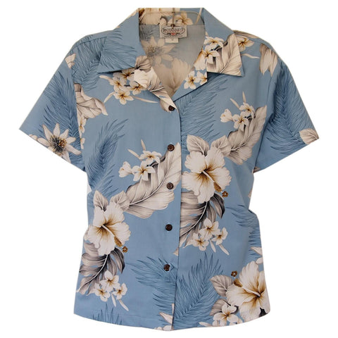 Mountain Green Hawaiian Women's Peplum Blouse