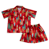 Hot Surfboards Red Hawaiian Boy Shirt & Shorts Set - PapayaSun