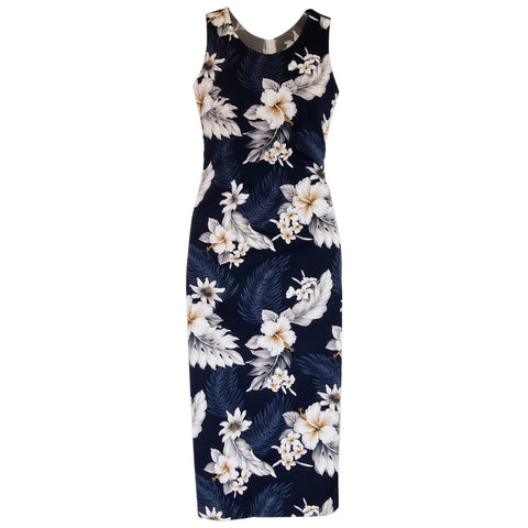 Maize Cream Short Hawaiian Skinny Strap Floral Dress