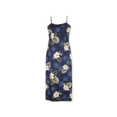 Parrot-Dise Blue Short Hawaiian Tank Floral Dress