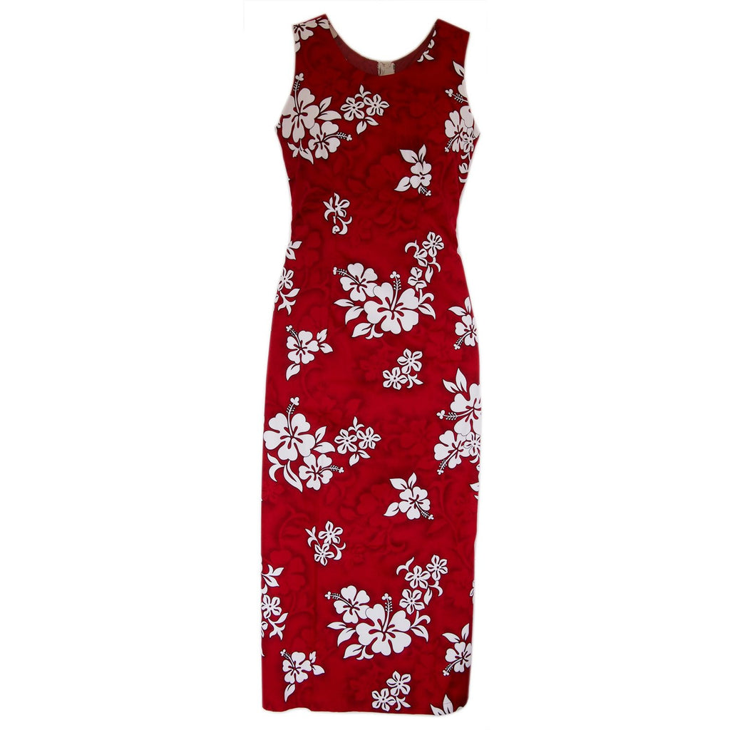 Seastar Red Long Hawaiian Tank Dress - PapayaSun