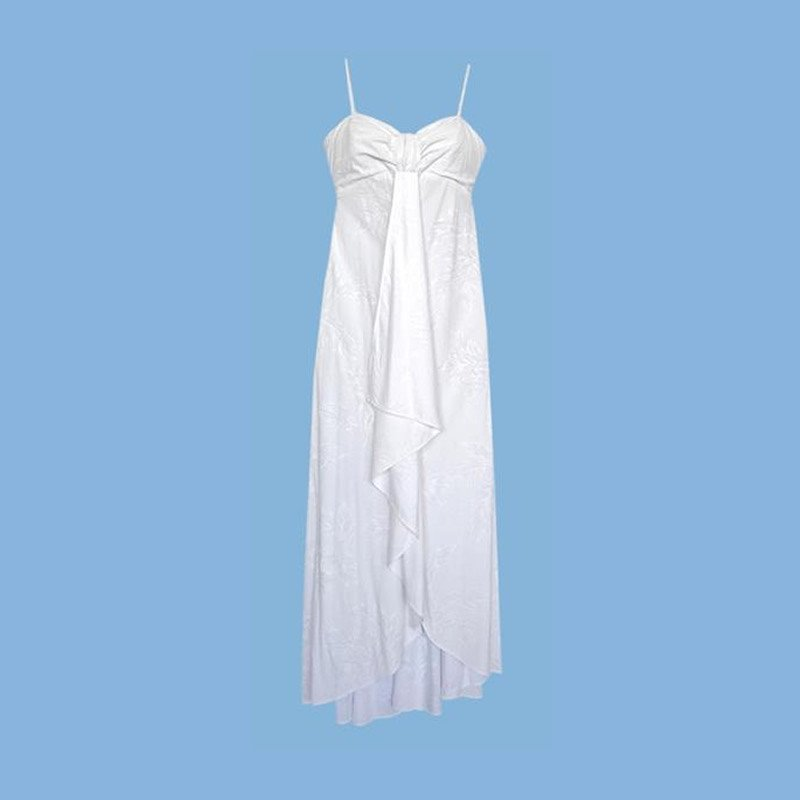Ulu White Hawaiian Pele Wedding Dress - PapayaSun