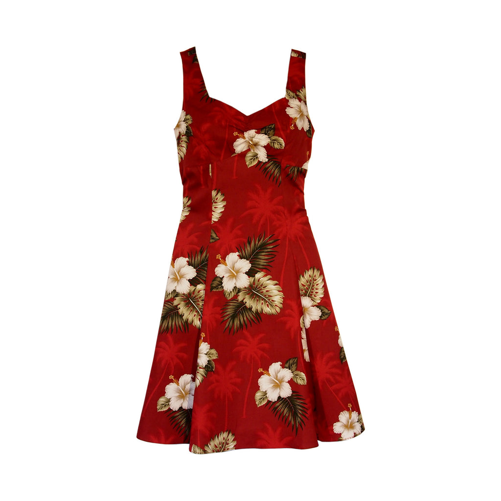 Lava Red Hawaiian Sundress - PapayaSun