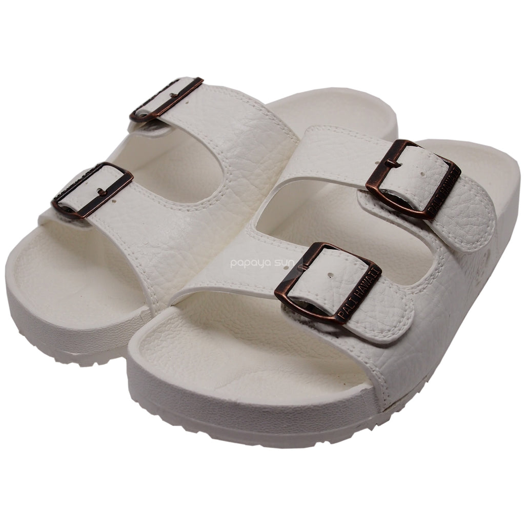 Pali Hawaii Jandals with Buckle White Jesus Hawaiian Sandal - PapayaSun