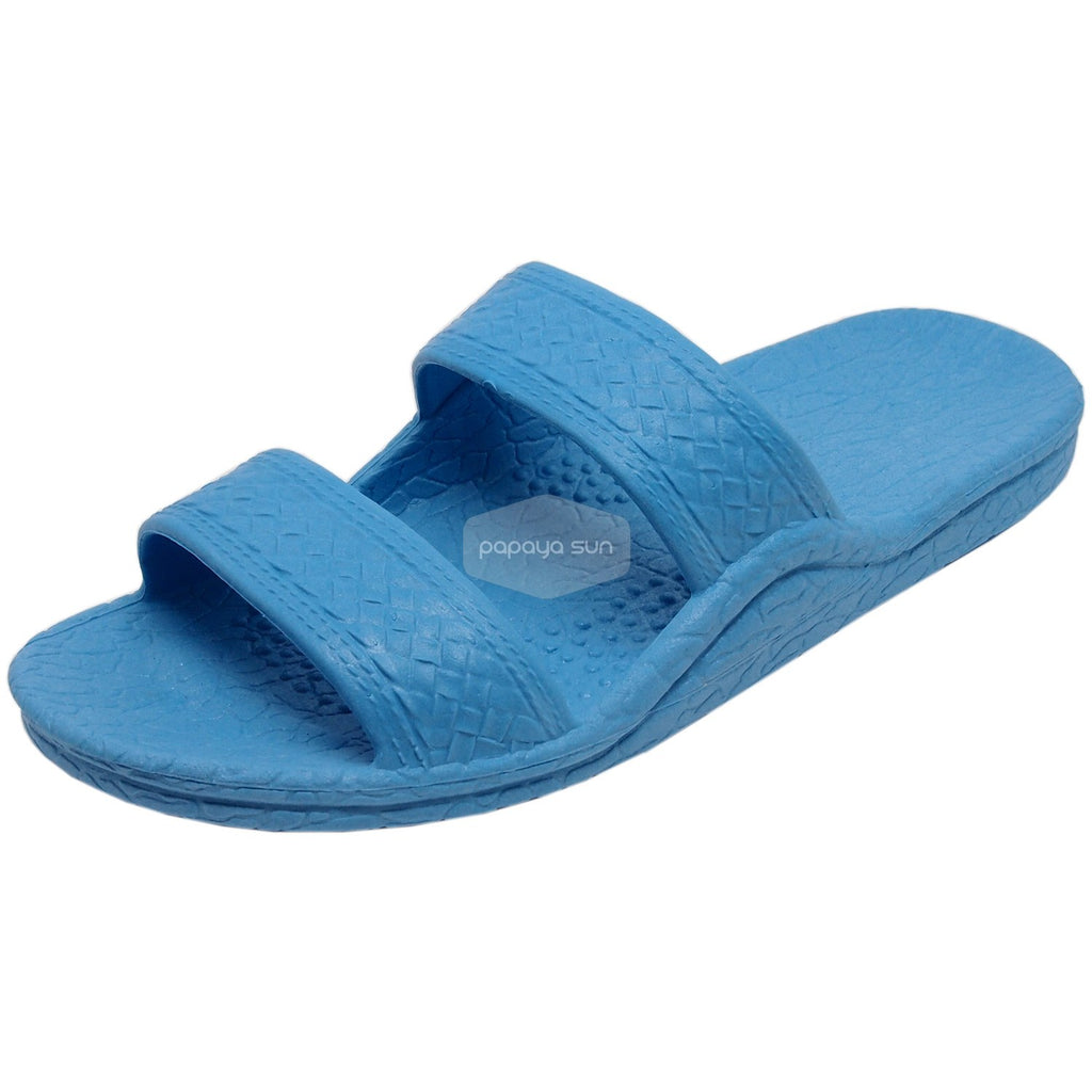 "Classic Sky Blue ""Hawaiian Jandals"" Pali Hawaii Jesus Sandals - PapayaSun"