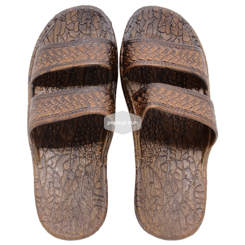 "2c204f00d ... Classic Dark Brown ""Hawaiian Jandals"" Pali Hawaii Jesus Sandals -  PapayaSun ..."