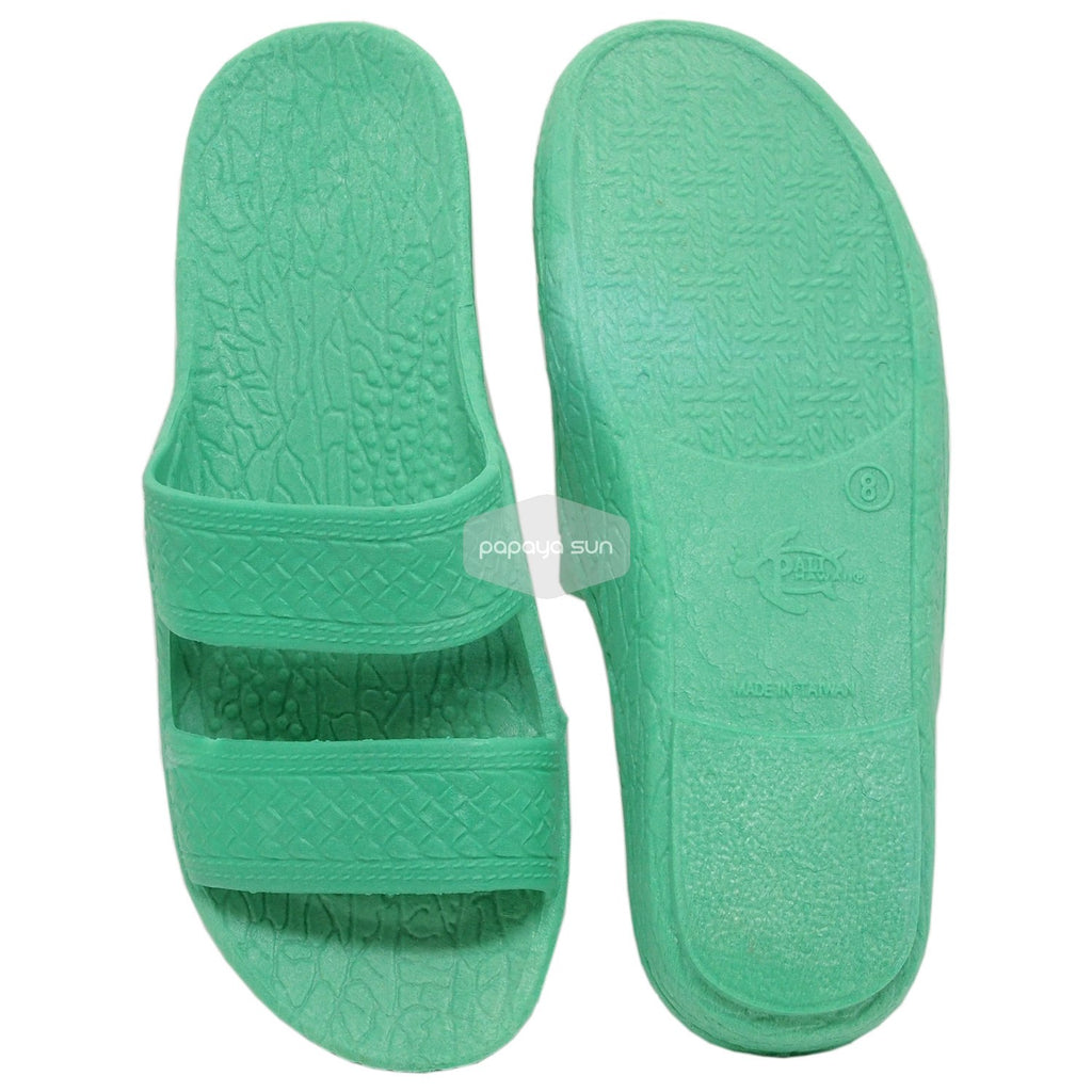 "Classic Green ""Hawaiian Jandals"" Pali Hawaii Jesus Sandals - PapayaSun"