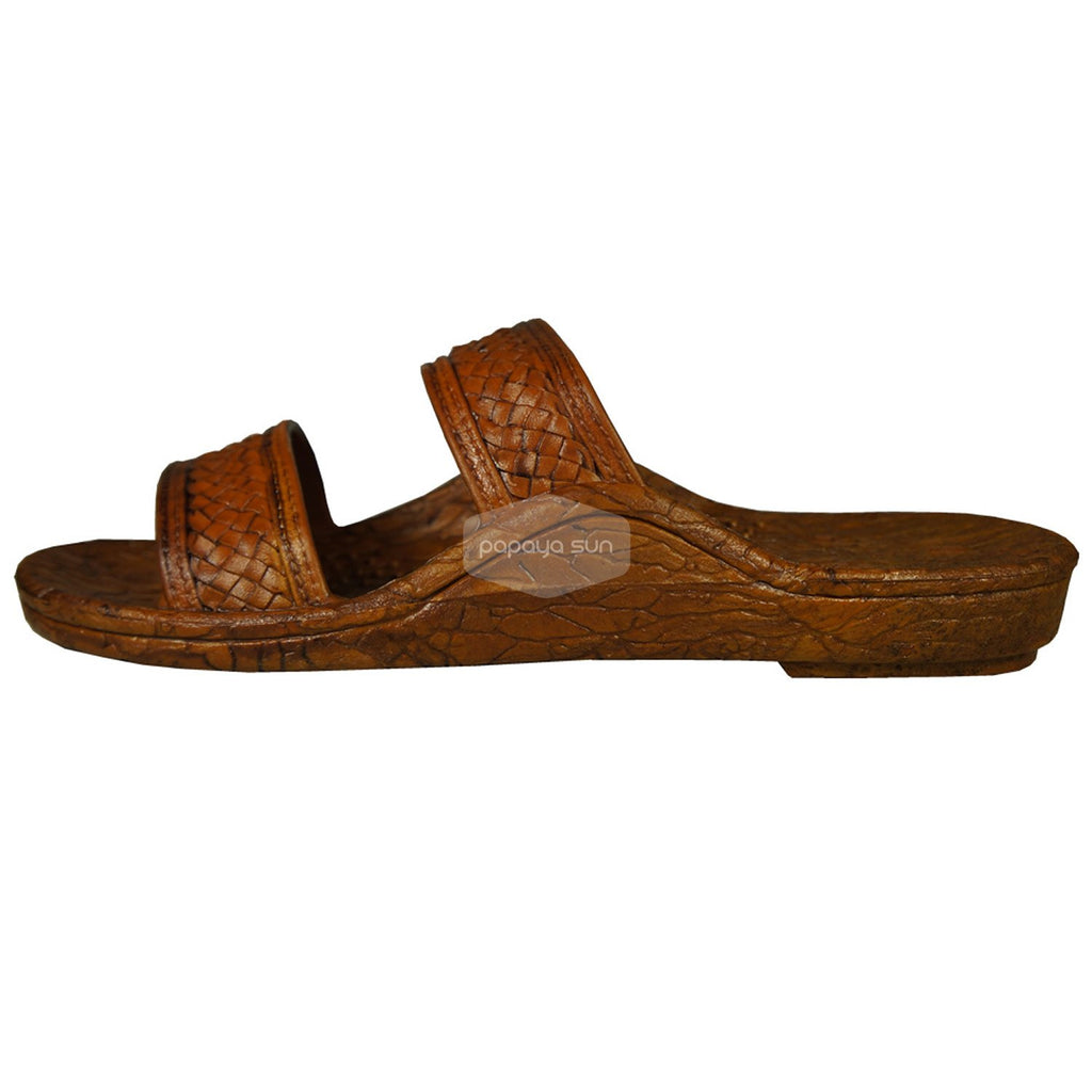 "Classic Light Brown ""Hawaiian Jandals"" Pali Hawaii Jesus Sandals - PapayaSun"