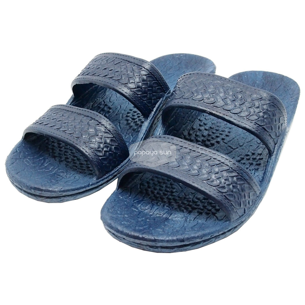 "Classic Navy ""Hawaiian Jandals"" Pali Hawaii Jesus Sandals - PapayaSun"