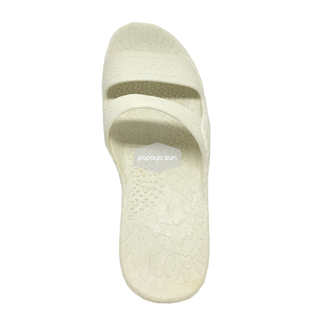 "Classic White ""Hawaiian Jandals"" Pali Hawaii Jesus Sandals - PapayaSun"