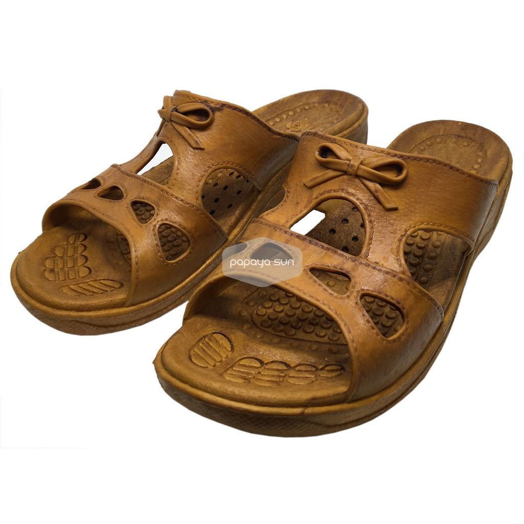 Cutie Bow Brown Pali Hawaii Sandals - PapayaSun