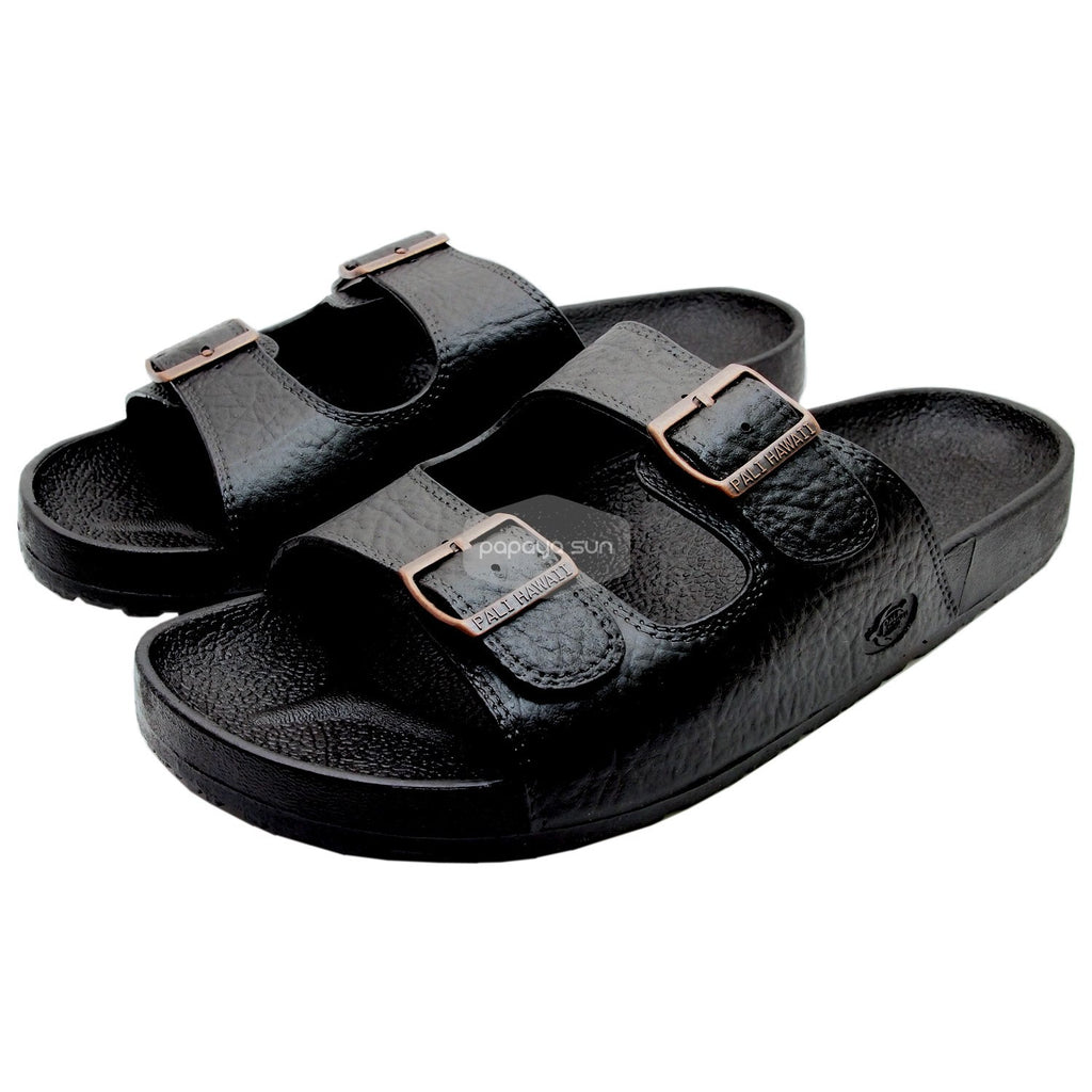 Pali Hawaii Jandals with Buckle Black Jesus Hawaiian Sandal