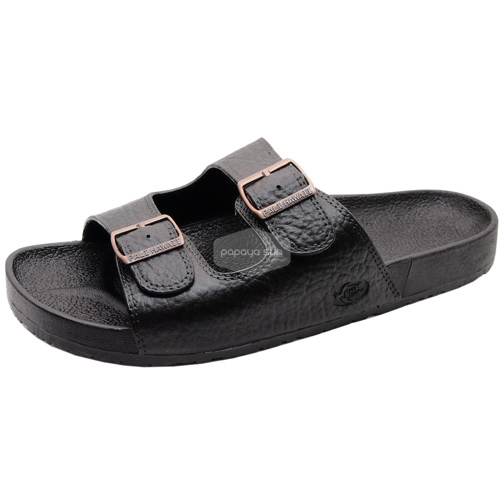 Pali Hawaii Jandals with Buckle Black Jesus Hawaiian Sandal - PapayaSun