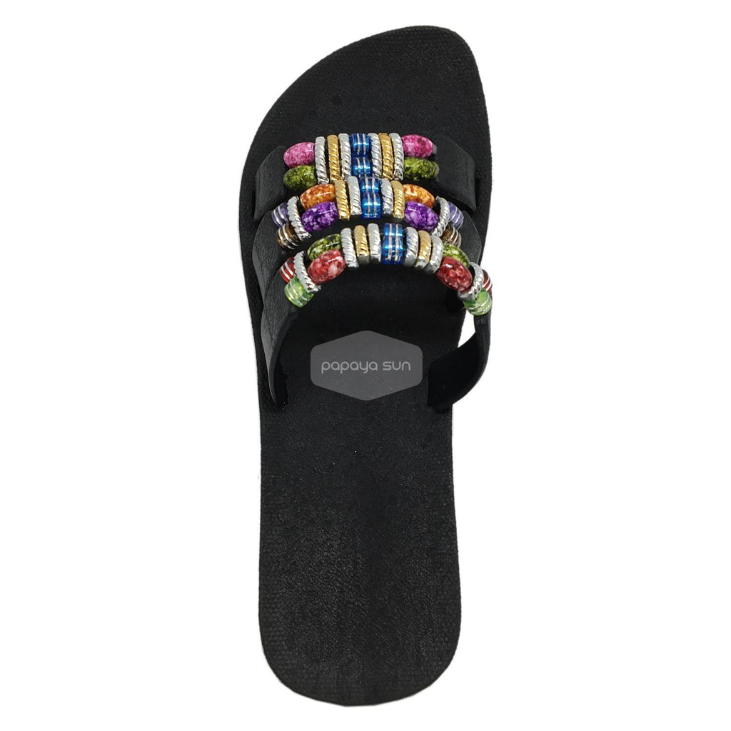 Sparkle Slide Black Pali Hawaii Sandals - PapayaSun