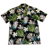 Amazon Black Cotton Aloha Sport Hawaiian Print Shirt - PapayaSun
